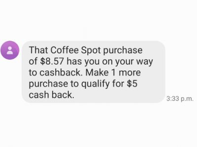 Olive Cash Back Engages Customers